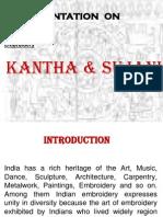 Kantha & Sujani Ppt