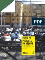 Islamophobie Amnesty 2012