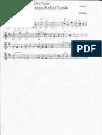 Minuet in Style of Haydn - Violino I e II