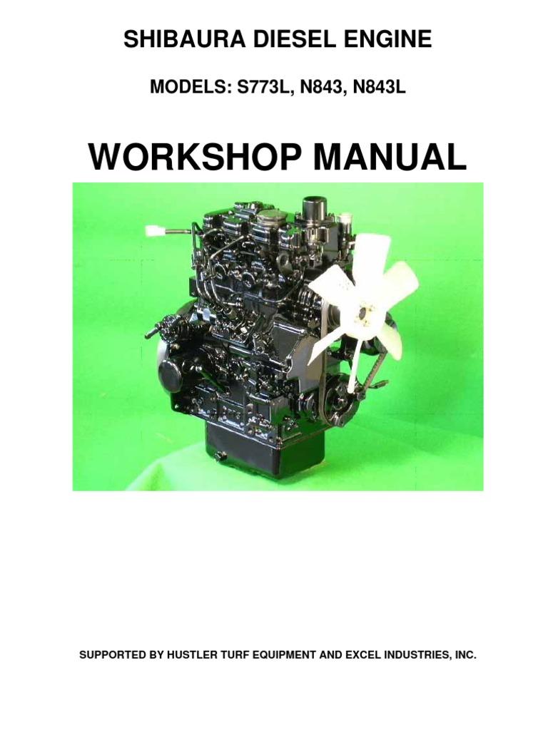 hustler shibaura s773l n843 n843l service manual 109823 0209 piston valve