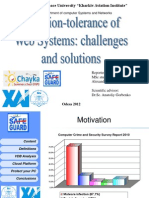 1 Training Intrusion-Tolerance of Web Systems Challenges and Solutions