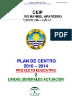 2.- Plan de Centro Lineas Generales de Actuacion