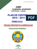 1 Fichas Proyecto Curricular Primer Ciclo 2008-09 Definitivo A