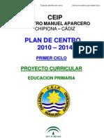 1 Proyecto Curricular Primer Ciclo 2008-09 Definitivo A