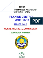 3 Fichas Proyecto Curricular Tercer Ciclo 2009 -10 Definitivo