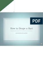 how to drape a sari audio