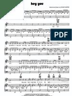 [Sheet Music - Piano Score] Pink Floyd _-_ Hey You