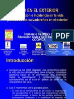 Voto en El Exterior Ramón Villalta en Presentación Salvadoreños en el  Exterior Sept 2003