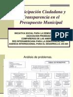 Paricipación Ciudadana y Transparencia en el Presupuesto Municipal