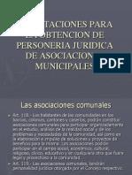 Procedimientos para las Asociaciones Municipales