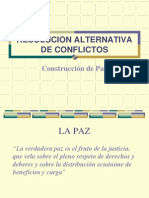 Resolución Alternativa de Conflictos