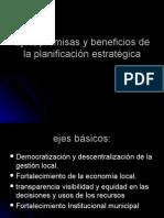 Ejes Premisas y Beneficios de la Planificación Estratégica