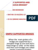 Simply Supported and Continuous Bridges