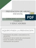 Prevencion de Abuso Infantil
