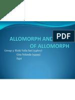 Allomorph and Types of Allomorph