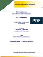 Unidad 2. Legislacion y Seguridad en El Comercio Electronico