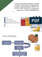 Sifat Fisik Dan Organoleptik Sosis Daging Sosis Daging