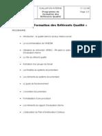 090109 - RHorg - Programme Formation Référents Qualité