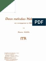 Deux Mleodies Hebraiques, Maurice Ravel - Voz e Piano