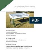 destilador de agua solar confección y uso