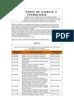 MINISTERIO DE CIENCIA Y TECNOLOGÍA normas EN
