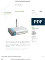 Configuracion Del Router Inalambrico DSL.2640T