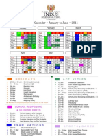 Revised Calender for Jan to June - 2011