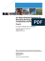 An Object Oriented Database for Managing Building Components and Metadata