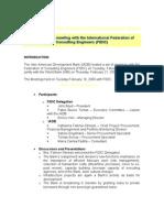 FIDIC Minutes