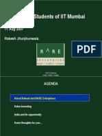 RARE Presentation to IIT B 11 Aug