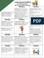 Kindergarten ABCs for parents