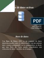 presentación base de datos activas