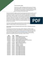 Sea 100329 Hsbc Annual Information Update