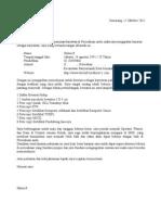 Surat Lamaran Umum Untuk Job Fair (Yg Belum Diketahui Nama Perusahaanya)