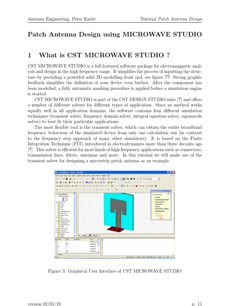 Cst Patch Antenna Design Using MICROWAVE STUDIO | Antenna (Radio) |  Electricity