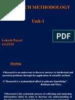 Research Methodology Unit 1,2