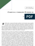 Leopoldo e Silva Curriculo e Formacao o Ensino Da Filosofia
