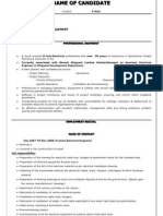 SAMPLE CV FOR ELECTRICAL ENGINEER
