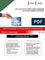 Resumen Ejecutivo del Estudio sobre cloud computing en el sector público en España