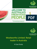 Woolworths Limited- Retail Leader in Australia