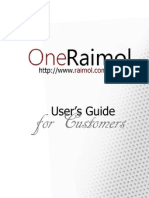 OneRaimol (Store) User Guide