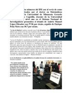 Ley de Benford, Prueba Del Fraude en El PREP en Los Comicios Electorales 2012 Mèxico