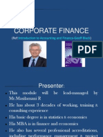 Corporate Finance Study Slides PDP