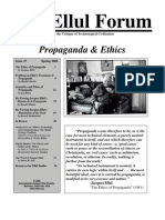 The Ethics of Propaganda by Jacques Ellul - The Ellul Forum - Issue 37 Spring 2006