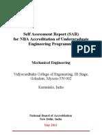 Self Assessment Report 12-1-2012