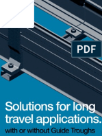Guide troughs- solutions for long travel applications