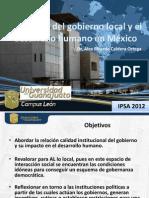 La calidad del gobierno local y el desarrollo humano en México IPSA 2012