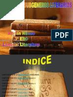 Generos y Subgeneros Literarios