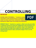 Chapter 10 - Controlling