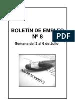 BOLETIN EMPLEO Nº 8 SEMANA 2 AL 6 JULIO